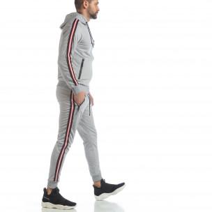 5 striped мъжки спортен комплект в сиво 2
