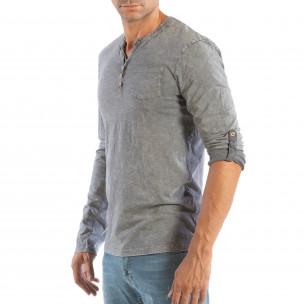 Мъжка сива блуза House с копчета  2