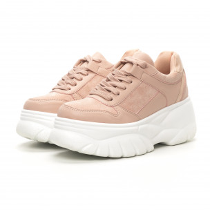 Chunky дамски маратонки в розово 2