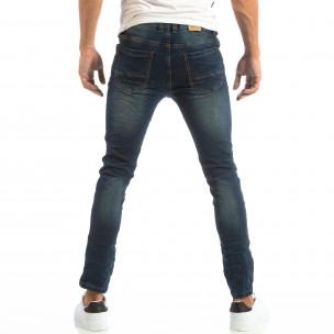 Slim Jeans в синьо с намачкан ефект 2