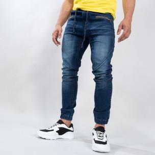 Мъжки сини дънки тип Biker