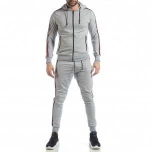 5 striped мъжки спортен комплект в сиво