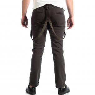 Мъжки сив панталон House с тиранти  2