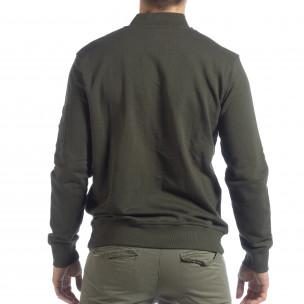 Мъжки зелен суичър CROPP с джоб на ръкава 2