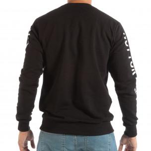 Мъжка черна ватирана блуза WHITE 2