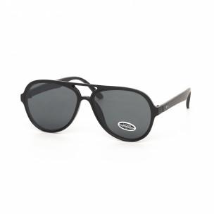 Черни пилотски слънчеви очила плътна рамка