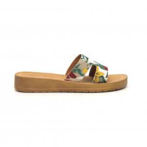 Дамски чехли с флорален десен