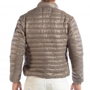 Леко мъжко ватирано яке в сиво  2