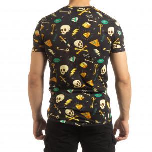 Колоритна мъжка Skull тениска  2