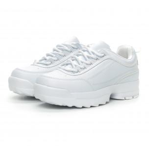 Бели дамски Chunky маратонки  2