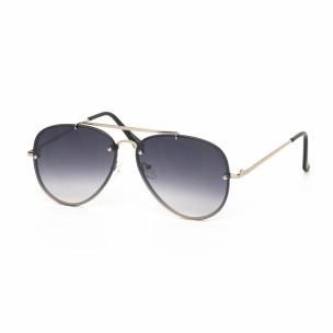 Пилотски очила с плоски стъкла опушено черно