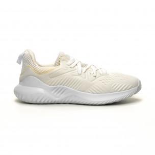 Леки мъжки маратонки бял текстил