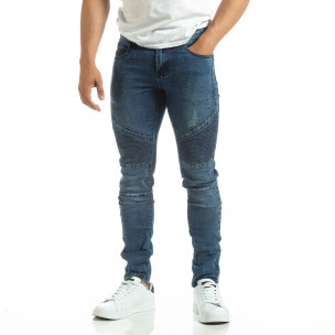 Мъжки рокерски дънки в синьо  2