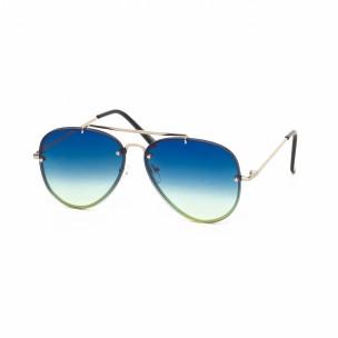 Пилотски очила с плоски стъкла опушено синьо