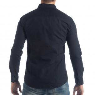 Спортна мъжка синя риза Slim fit  2