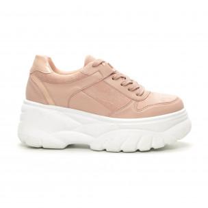 Chunky дамски маратонки в розово