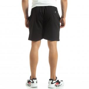 Мъжки шорти трико в черно 2