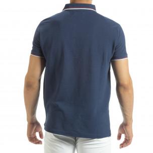 Мъжка тениска polo shirt в синьо 2