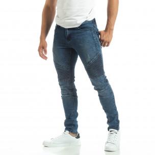 Мъжки рокерски дънки в синьо