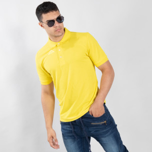 Мъжки polo shirt Kappa в жълто regular fit