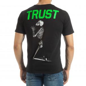 Черна мъжка тениска Pray Trust 2
