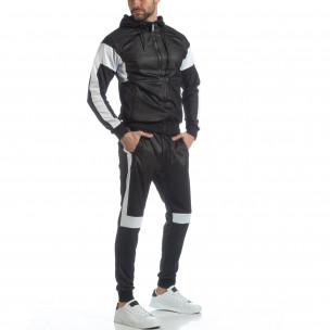 Ефектен мъжки спортен комплект в черно