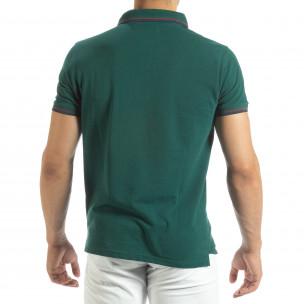 Мъжка тениска polo shirt в зелено  2