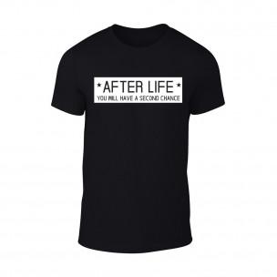 Мъжка черна тениска After Life