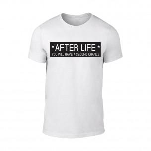 Мъжка бяла тениска After Life