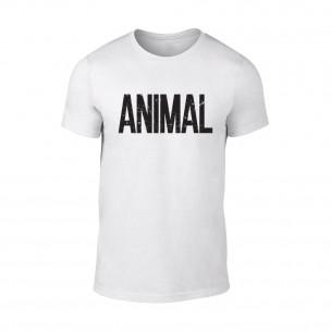 Мъжка бяла тениска Animal