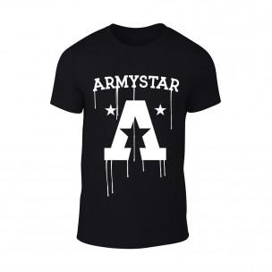 Мъжка черна тениска Armystar