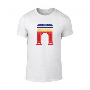 Мъжка бяла тениска Bucuresti