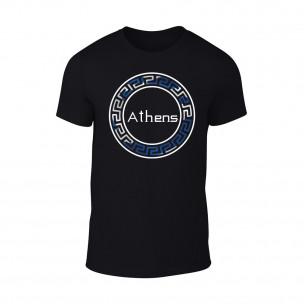 Мъжка черна тениска Athens