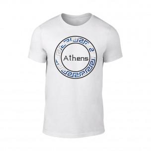 Мъжка бяла тениска Athens