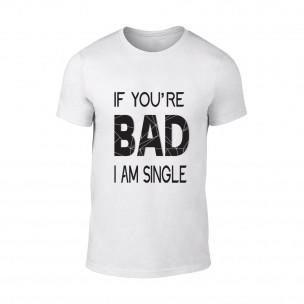 Мъжка бяла тениска Bad