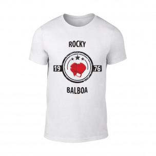 Мъжка бяла тениска Rocky Balboa