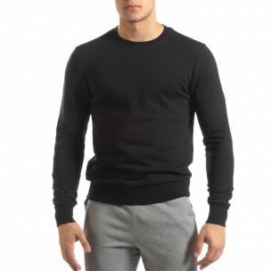 Basic мъжка памучна блуза в черно. Размер M