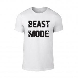 Мъжка бяла тениска Beast Mode