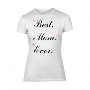 Дамска бяла тениска Best Mom Ever