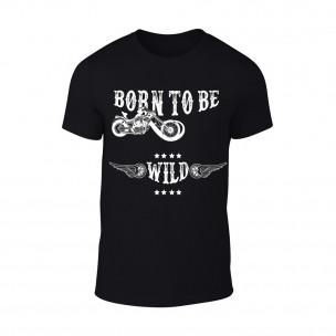 Мъжка черна тениска Born To Be Wild