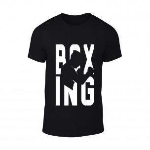 Мъжка черна тениска Boing