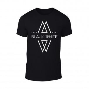 Мъжка черна тениска Black White