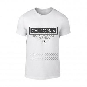Мъжка бяла тениска California