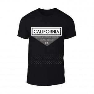 Мъжка черна тениска California