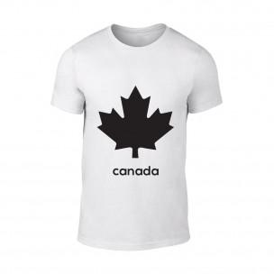 Мъжка бяла тениска Canada