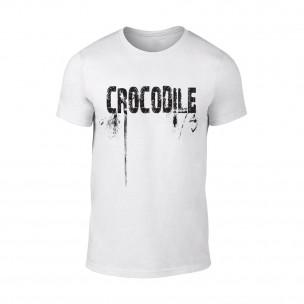 Мъжка бяла тениска Crocodile