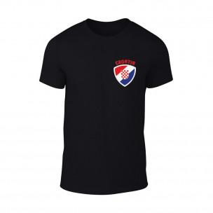 Мъжка черна тениска с лого Croatia