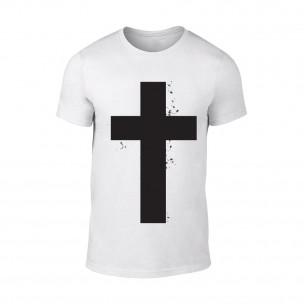 Мъжка бяла тениска Cross