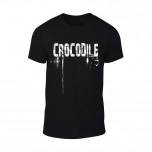 Мъжка черна тениска Crocodile