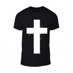 Мъжка черна тениска Cross